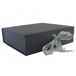 Keepsake Size Black Magnetic Seal Gift Boxes - (300mm x 300mm x 90mm)